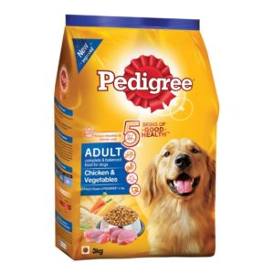 Pedigree Chicken And Vegetable Adult Dog Food 1.2KG
